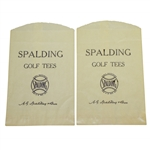 Pair of Vintage Wax Spalding Golf Tees Bags by A.G. Spalding & Bros. - Crist Collection