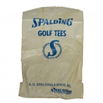 Vintage Wax Spalding Golf Tees Bag with Tees by A.G. Spalding & Bros. - Questor - Crist Collection