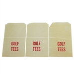 "Three Vintage Wax Unmarked and Undated ""Golf Tees"" Bags - Crist Collection"