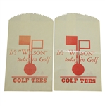 "Two Vintage Wax ""Its Wilson Today in Golf"" Golf Tees Bags - Crist Collection"