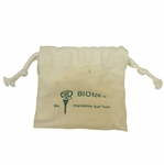 Vintage BIOtee Biodegradable Golf Tees Canvas Bag - Crist Collection