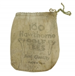 "Vintage ""100 Hawthorne Golf Tees"" Canvas Tee Bag with Tee - Crist Collection"