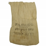 "Vintage ""Filenes Mens Sport Shop"" Canvas Tee Bag with Tees - Crist Collection"