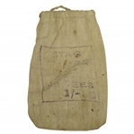 "Vintage ""Stag Taper Golf Tees"" Canvas Tee Bag with Tees - Crist Collection"