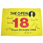 Signed By A.Palmer, T.Watson, P.Thomson & Five Other Open Champs Who Won at Royal Birkdale Flag JSA ALOA