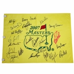 Doug Fords 2007 Masters CHAMPS Dinner Signed Flag with Arnie, Jack, Seve Middle JSA ALOA
