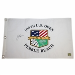 Jack Nicklaus Signed 2000 US Open at Pebble Beach White Flag GOLDEN BEAR cert#04313