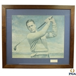 "Bobby Jones Signed Thomas E. Stephens USGA Print Display ""With Best Regards, Bob Jones"" JSA ALOA"