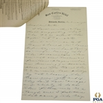 Horton Smith Signed Handwritten Four-Page Letter to PGA President Gates JSA ALOA