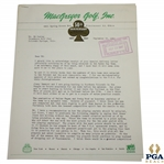 Ben Hogan Signed 1947 Letter Accepting Ryder Cup Team Member Selection JSA ALOA