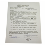 Jack Nicklaus Signed 1963 ABC Challenge Golf Contract JSA ALOA