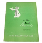 Lloyd Mangrum, Oliver, Harbert, & Metz Signed 1947 PGA Official Program JSA ALOA