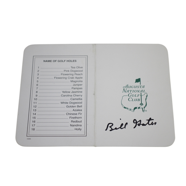 Bill Gates Signed Augusta National Golf Club Scorecard JSA ALOA