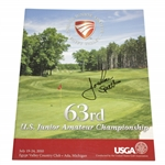 Jordan Spieth Signed 2010 US Junior Amateur Official Program JSA ALOA