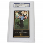 Seve Ballesteros Signed 1983 Champions of Golf  Grand Slam Ventures (GSV)Card PSA/DNA #82012380