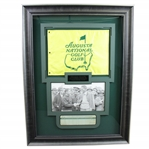 Horton Smith Signed 1948 Detroit GC Scorecard with Jones Photo & ANGC Member Only Flag JSA ALOA