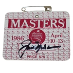 Jack Nicklaus Signed 1986 Masters Series Badge #A2237 JSA ALOA