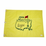 Phil Mickelson Signed 2006 Masters Embroidered Flag JSA #Z91494