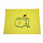 Jack Nicklaus Signed Masters Undated Embroidered Flag FULL JSA #Z91492