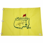 Bernhard Langer Signed Undated Masters Embroidered Flag with Years Won JSA #GG76984