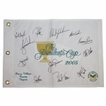 Ken Venturis 2005 Presidents Cup US Team Signed Flag with Woods, Nicklaus, Mickelson, & others JSA ALOA