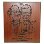 Willie Nelson & Darrell Royal Celebrity Invitational Golf Tournament Engraved Wood Picture
