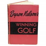 "Ken Venturis Personal 1956 Byron Nelson Signed & Inscribed Book ""Favorite Pupil"" JSA ALOA"
