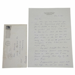 Dr. John Ellsworth Everett Handwritten 7/8/64 Letter to Ken Venturi - US Open Content