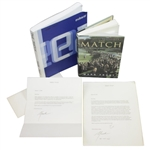 "Ken Venturis Personal ""The Match"" Editors Copy with Book, Signed Letters, & Photo JSA ALOA"