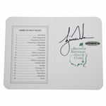 Tiger Woods Signed Augusta National Golf Club Original Scorecard UDA #SHO35214