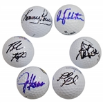 Kenny Perry, Jay Haas, Fred Funk, Brad Faxon, Steve Pate, & Rory Sabbatini Signed Golf Balls JSA ALOA