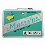 1997 Masters Tournament Series Badge #A05485 - Tigers First Green Jacket