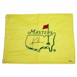 Tiger Woods Signed Undated Masters Embroidered Flag UDA #SHO035205
