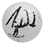 Tiger Woods Signed Titleist 1 Tour Balata Logo Practice Golf Ball FULL JSA #X04145
