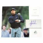 Tiger Woods Signed Signature Golf - Signs of a Champion - Pacific Palisades, Ca. Photo UDA