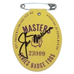 Jack Nicklaus Signed 1965 Masters Tournament Series Badge #23009 FULL JSA #Z91036