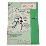Jack Nicklaus Signed 1972 Masters Tournament Spectator Guide JSA #GG44611