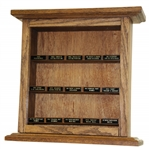Nice Wooden Custom 15 Slot Golf Ball Display with Vintage Golf Ball Nameplates