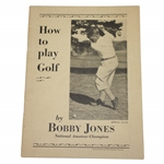 1929 Bobby Jones How To Play Golf Booklet - Compliments of The Atlanta Journal