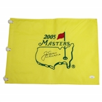Jack Nicklaus Signed 2005 Masters Embroidered Flag with Years Won Notation FULL JSA #BB44084