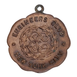 Vintage Undated New York City Engineers Club Medal