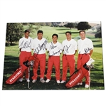 Tiger Woods & Teammates Signed 1995 Stanford Golf Team Photo FULL JSA #BB15308