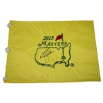 Nick Faldo Signed 2015 Masters Embroidered Flag JSA ALOA