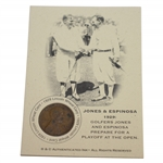 Jones & Espinosa 1929 Lincoln Wheat Penny AuthInk Card - Playoff