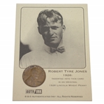 Robert Tyre Jones 1926 Lincoln Wheat Penny AuthInk Card
