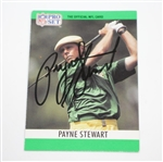 Payne Stewart Signed 1990 NFL Pro-Set Golf Card JSA ALOA
