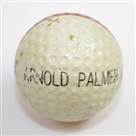 Unique Property of Arnold Palmer Stamped Golf Ball - Red Stripe