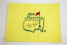Bernhard Langer Signed 2014 Masters Embroidered Flag with 1985 1993 Inscription JSA ALOA