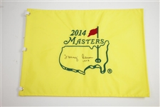 Tommy Aaron Signed 2014 Masters Embroidered Flag with 1973 Inscription JSA ALOA