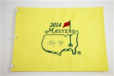 Charles Coody Signed 2014 Masters Embroidered Flag with 71 Inscription JSA ALOA